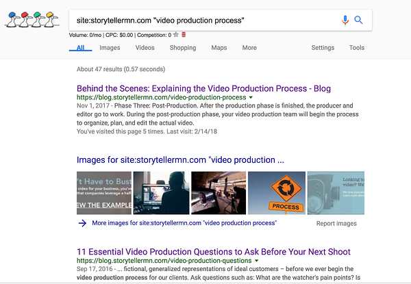 Google Keyword Site Search